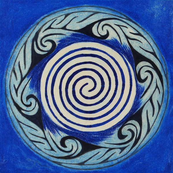 healing spiral, geometric art designed to move energy and promote creativity
