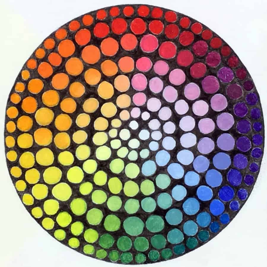 Color wheel oil painting