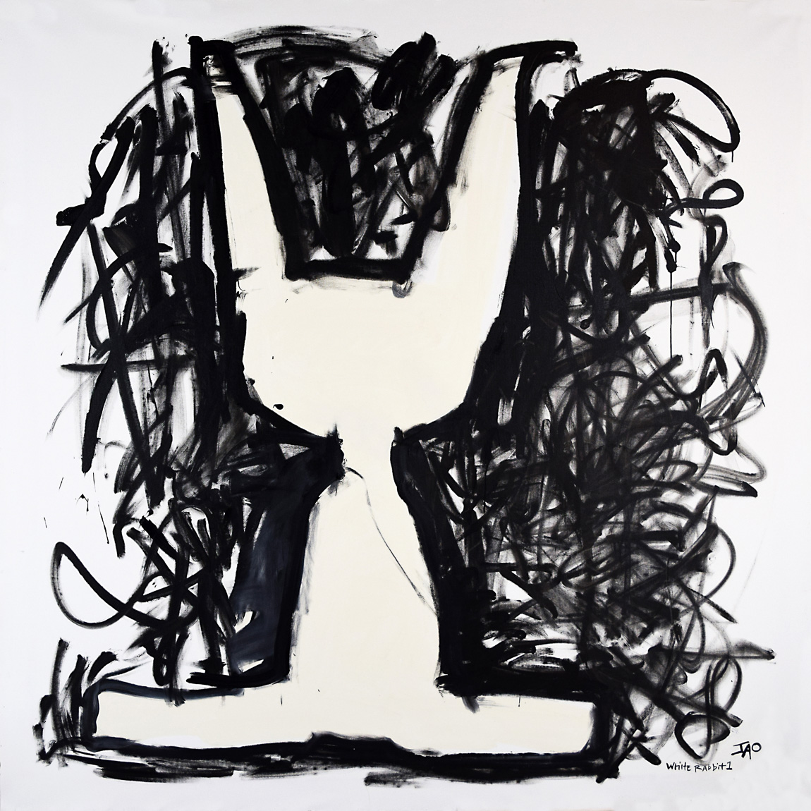 White Rabbit Quadtych Panel 1 by JAO