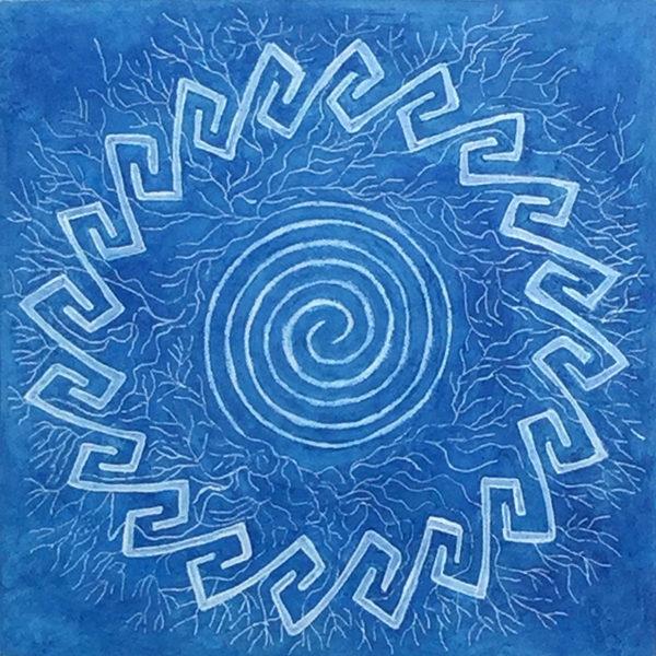 blue spiral with li symmetry patterns Celtic Key