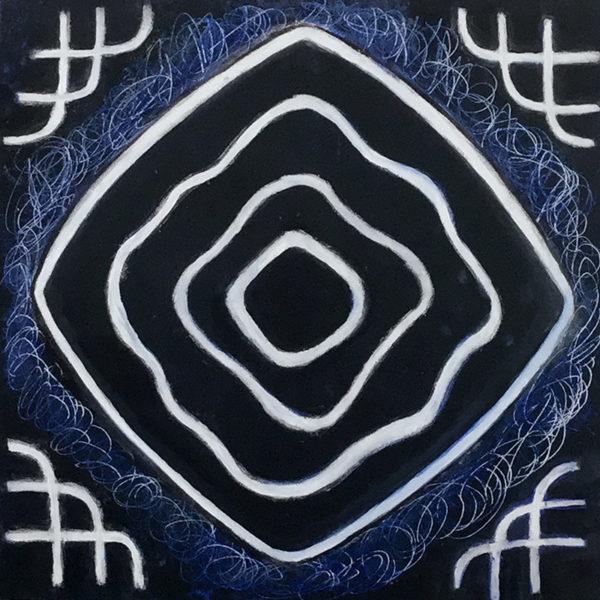 Harmonic tone image white on black by Julie Jao
