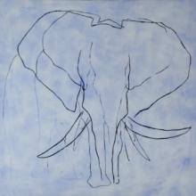 Elephant Blue by JAO