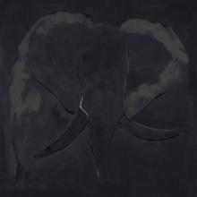 Elephant On Black 2 by JAO