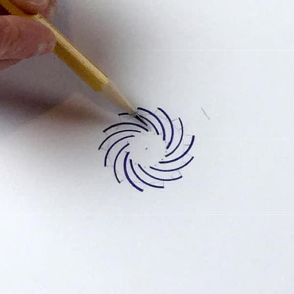 13-armed Fibonacci spiral beginning