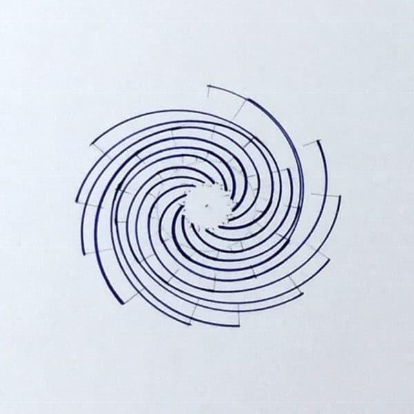 13-armed Fibonacci spiral